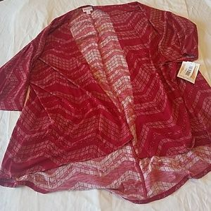 LuLaRoe Red Stretchy Lindsay Cover Sz S NEW